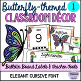 Elegant Butterfly-themed Classroom Decor and Set Up (Editable)