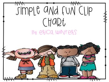 Simple and Fun Behavior Clip Chart