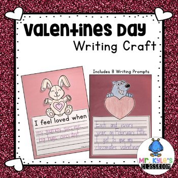 Simple and Fun Valentines Day Writing Craft!  Color, Write, Cut, and Paste!