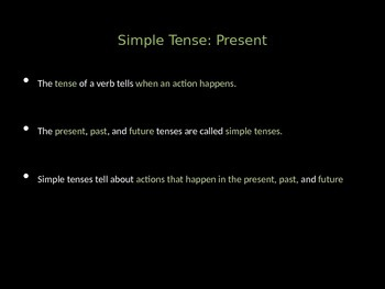 Simple and Perfect Verb Tenses