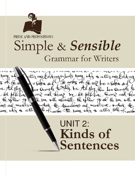 Simple and Sensible Grammar for Writers: Unit 2 Kinds of Sentences