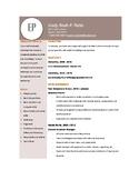 Simple and Sleek Resume Sample - Brown