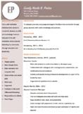 Simple and Sleek Resume Template - Brown
