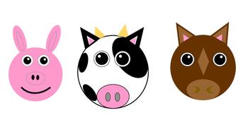 Simple barnyard animals