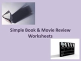 Simple book and movie review worksheets