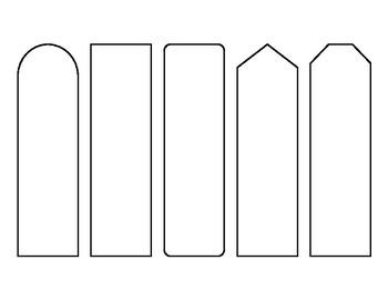 Simple bookmark template