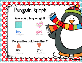 Penguin Glyph, Writing, and More! Kinder Craft- Simple & Easy