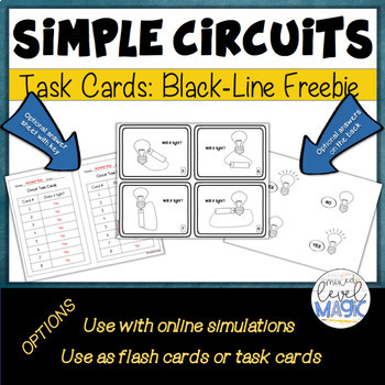 Electrical Circuits Matchcard Objective Diagram An Electrical ... on