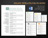 Simple clean 3 in 1 Word resume