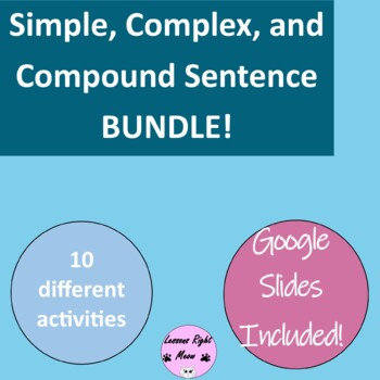 Simple, compound, and complex sentence bundle