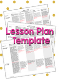 Simple, easy to use WEEKLY LESSON PLAN TEMPLATE