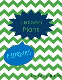 Simple, easy to use, editable LESSON PLAN template