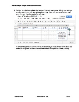 Simple gradable Google form multiple choice (MC) quiz