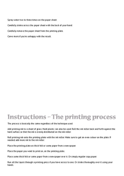 Simple graphic techniques