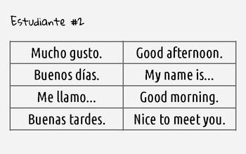 Simple greetings - Conversational Activity