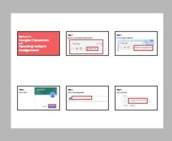 Simple handout for students to sign into and do work on Google Classroom