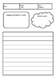 Simple ESL lesson planner