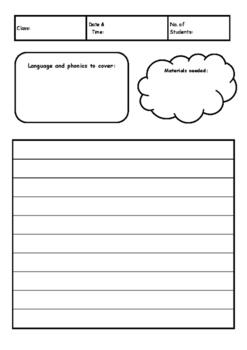 Simple ESL lesson planner