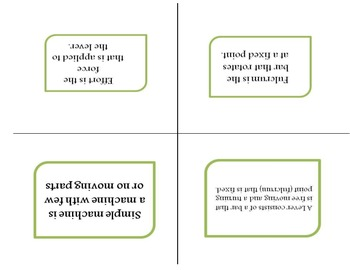 Simple machine flashcards