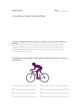 Simple machine worksheet