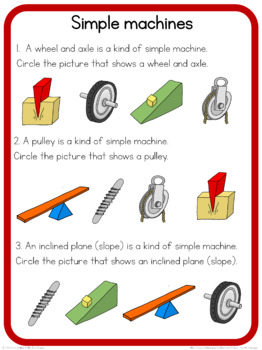 Simple machines circle time questions