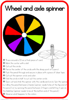 Simple machines craft - wheel and axle spinner