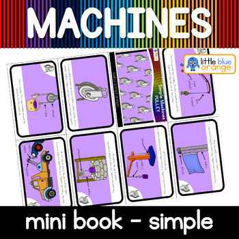 Simple machines - pulley - mini book (simple)