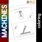 Simple machines - screw - coloring booklet