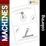 Simple machines - screw - coloring booklet