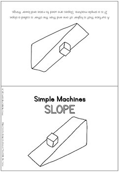 Simple machines - slope / inclined plane - coloring booklet