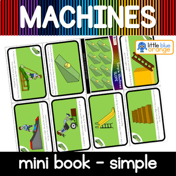 Simple machines - slope / inclined plane - mini book (simple)