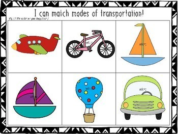Simple matching task box/ independent work / file folder