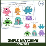Simple matching task box/ independent work bundle/ file folder