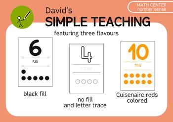 Simple number sense math center up to ten - Concepto de ca