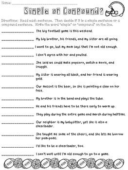 Simple or Compound Sentence FREEBIE!
