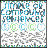 Simple or Compound Sentences SCOOT! Game, Task Cards or As