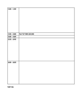 Simple organized day plan