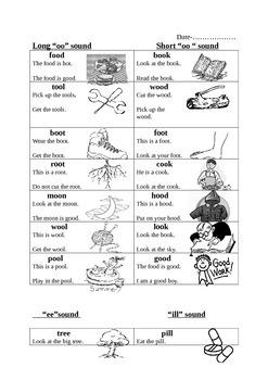 Simple phonics reading handouts