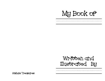 Simple printable for student book writing.