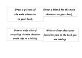 Simple reading task cards