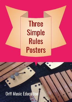 Simple rules for the Music Classroom a4 posters