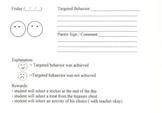 Simple smiley face reward program for Elementary School students