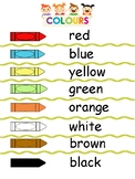 Simple student friendly Colours printable