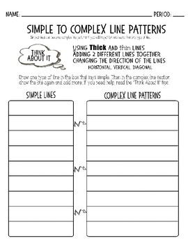 Simple to Complex Line Patterns