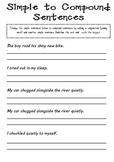 Simple to compound sentences