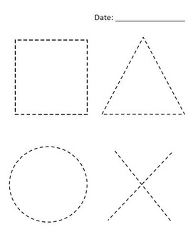 Simple tracing sheets (alphabet, numbers and shapes)