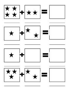 simple visual addition worksheet by school bus sisters tpt. Black Bedroom Furniture Sets. Home Design Ideas