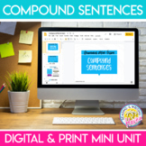 Compound Sentences Sentence Type Grammar Mini Unit for Middle or High School