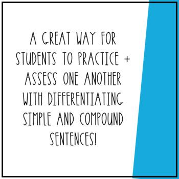 Simple vs. Compound Sentences Cootie Catcher!