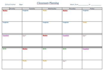 Simple weekly planning